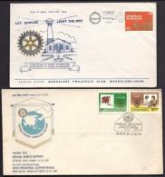 LOT 4 LETTRES ROTARY INTERNATIONAL- INDE- LETTRES ILLUSTRÉES- CAD DE 1980- 1981- 1987- 2 SCANS - Rotary, Lions Club