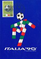 D17981 CARTE MAXIMUM CARD TRIPLE 1990 BELGIUM - WORLD CUP ITALY SOCCER - CP ORIGINAL - World Cup