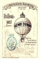 "Great Britain Coronation Mailed To Holland 1953 Souvenir Card, Balloon Post ""Henri Dunant"". - 1952-.... (Elizabeth II)"