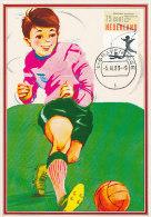 D17987 CARTE MAXIMUM CARD FD 1989 NETHERLANDS - SOCCER CHILDREN CP ORIGINAL - Soccer