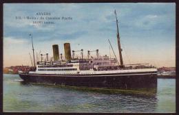 """Anvers - Le S/S """"Melita"""" Du Canadian Pacific - Antwerpen"""