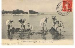 Biarritz Artistique - Nos Enfants Sur La Plage - Gorce 13 - Circulé1909 - Biarritz