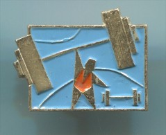 WEIGHTLIFTING - Russia, Soviet Union, Metal, Pin, Badge - Gewichtheben