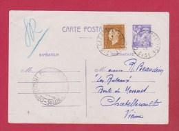 Carte Postale // Pour  Chatellerault  // 2/02/45 - 1921-1960: Modern Tijdperk