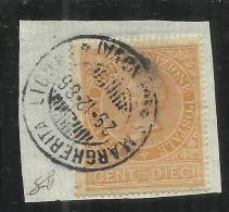 ITALIA REGNO ITALY KINGDOM 1874 RICOGNIZIONE POSTALE USATO SU FRAMMENTO USED ON PAPER FIRMATO SIGNED - Steuermarken