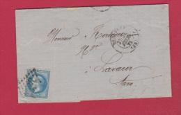 Lettre //  De Toulouse //  Pour Lavaur // 23 Février  1871 - Postmark Collection (Covers)