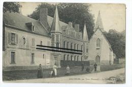 CPA -Argoules, Par Vron - Le Château Et L'Eglise - France
