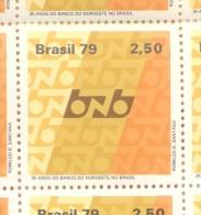 BRESIL BRASIL BRAZIL  YVERT NR. 1371  MNH AÑO 1979 BANQUE NATIONALE DU NORD-EST MULTICOLORE TBE - Unused Stamps