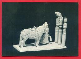 149018 / Russia Art  Vasiliy Petrovich Popov - Yakut At The Hitching Post , HORSE BIRD , Mammoth BONE THREAD - Russie - Sculpturen