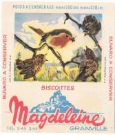 BUVARD - BISCOTTES MAGDELEINE Granville - N° 17 - Rouge-Gorge Et Ses Petits - Zwieback