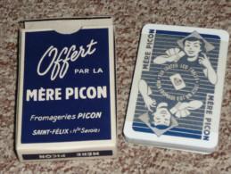 Rare jeu de cartes Publicitaire Neuf Fromagerie Picon Saint-F�lix 74