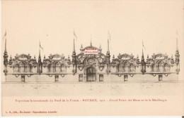 Exposition Internationale Du Nord De La France. Roubaix 1911. - Dessin Du Grand Palais Des Mines Et De La Métallurgie. - Roubaix