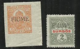 FIUME 1918 - 1919 GIORNALI SERIE COMPLETA NEWSPAPER COMPLETE SET MNH - 8. Occupazione 1a Guerra