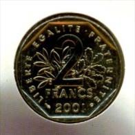2 Fr   FDC  2001     SOUS    BLISTER    SCELLE    D�ORIGINE