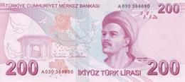TURKEY P. 227a 200 L  2009 UNC - Turchia