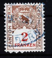 A2848) Schweiz 1926 Fiskalmarke Canton Bern 2 Fr. - Gebraucht
