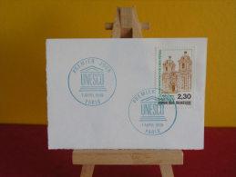 N°102 Y&T - Oblitérés 1er Jour - Timbre De Service, UNESCO - 7.4.1990 - Paris - Service