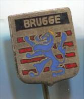 BRUGGE - Brugges, West Flanders, Belgium, Enamel, Old Pin, Badge - Cities