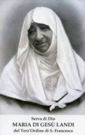 Santino SERVA DI DIO MARIA DI GESU' LANDI (Terz'Ordine Di San Francesco) - PERFETTO G85 - Religione & Esoterismo