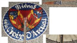 Rare Ancien éventail Publicitaire Bières De La Croix D'Arcueil Bière - Publicité