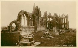 Royaume-Uni - Angleterre - Yorkshire - Abbey Interior , Whitby - Abbaye - état - Whitby