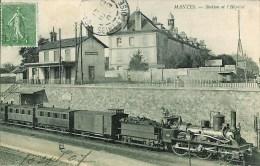 78 MANTES  - Station Et L'Hôpital (train En Gare) - Mantes La Jolie