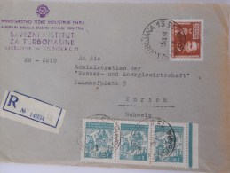 Yougoslavie Lettre Recommande De Ljubljana 1948 Pour Zurich - 1945-1992 Socialist Federal Republic Of Yugoslavia