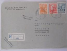 Yougoslavie Lettre Recommande De Ravne 1957 Pour Zurich - 1945-1992 Socialist Federal Republic Of Yugoslavia