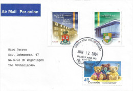 Canada 2004 Peachland Dragon University Education Teddy Bear Children Hospital Cover - 1952-.... Regering Van Elizabeth II