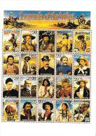 [DC0040] CARTOLINEA - MOLTO RARA - RIPRODUZIONE FRANCOBOLLI U.S.A. - L'EPOPEA DEL WEST - CENTENARIO DEL CINEMA - Briefmarken (Abbildungen)
