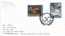 United Nations 2001 New York Millennium Reading Newspaper Turtle Paintings Cover - Brieven En Documenten