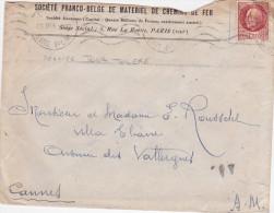 """PETAIN N°517 1f50 Obl """" 31/10/44 Paris Gare Plm"""" DERNIER JOUR UTILISATION Avant Retrait Et Démonétisation - Lettre - Cartas"""