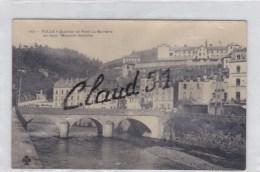 TULLES (19) Quartier Et Pont La Barriére ,en Haut : Maximin Deloche N°141.CPA Glacée En N&B - Tulle