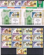 K 468  DOMINICA  XX  YVERT NRS  512/516 - 512a/516a - 537/544 + BLOK 42 + 46 - Dominique (1978-...)