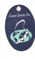 Etiquette à Bagages Europe Canada Line First Class - Étiquettes à Bagages
