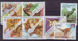 TEMATICA PREHISTORIA LOTE 2055 (0) 12 SELLOS USADOS DIFERENTES - Timbres