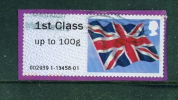 GREAT BRITAIN  -  2012  Post And Go  Union Jack  1st Class Up To 100g  Used On Piece As Scan - Post & Go Stamps