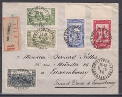 ALGERIE 1930 CENTENAIRE 5 TIMBRES   SUR LETTRE POUR LE LUXEMBOURG - Used Stamps