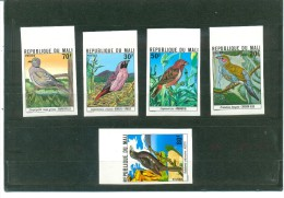 MALI, BIRDS, IMPERFORATE 5 VALUES ISSUE, UNMOUNTED MINT - PERFECT CONDITION - Mali (1959-...)