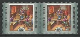 """Österreich 1994, """"Münzstätte Wien"""" 2er-Streifen,  2x 6.-ÖS, ANK Nr :2150**/feinst Postfrisch - 1945-.... 2nd Republic"""