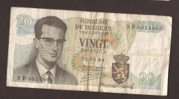 België Belgique Belgium 15 06 1964 20 Francs Atomium Baudouin. 3 P 6814963 - [ 6] Treasury