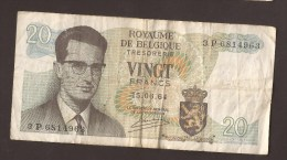 België Belgique Belgium 15 06 1964 20 Francs Atomium Baudouin. 3 P 6814963 - 20 Francs
