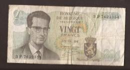 België Belgique Belgium 15 06 1964 20 Francs Atomium Baudouin. 3 P 7622354 - [ 6] Treasury
