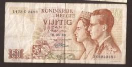 België 50 Frank 14-5- 1966 -NO: 1473 C 2483 - [ 6] Treasury