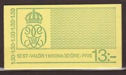 Sweden, Sverige, 1978, Carl XVI Gustaf, Booklet H305, MH935D, ***, MNH - 1981-..