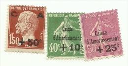 253/55  Caisse D´amortissement Luxe Sans Charniére  (clasroug) - Neufs