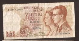 België 50 Frank 14-5- 1966 -NO: 1489 V 7025 - [ 6] Treasury