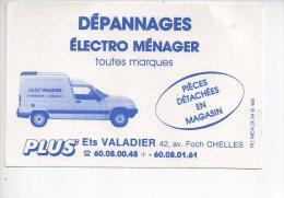 REF 182 Carte De Visite Valadier Chelles Renault 4L - Cartes De Visite