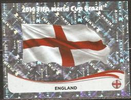 Coupe Du Monde De Football 2014 - Emblème Du Royaume Uni - 298 - Panini