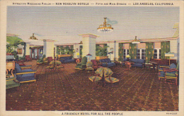 California Los Angeles Mezzanine Parlor New Rosslyn Hotels Fifth and Main Streets Curteich